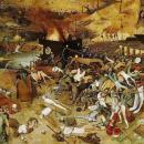 Idősb Pieter Brueghel A halál diadala című festménye a pestis tombolásáról