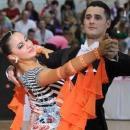 Adelina és táncos párja