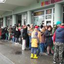 Ételosztás Debrecenben