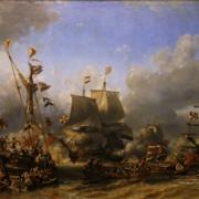 A holland flotta festményen