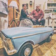 Deák (Dalnoky) Ferenc és felesége a retrómúzeumban