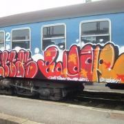 Graffiti egy vonaton