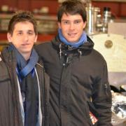 Szűk Bálint és Kovács Márk egy földalatti látogatáson, február 8-án