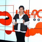 Nagyné Szőke Krisztina a díjátadáson