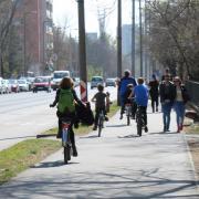 A lagnagyobb figyelmet a kerékpárások igénylik  Fotók: Gyöngyösi Erika