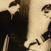 Hitler és Horthy a klessheimi kastélyban
