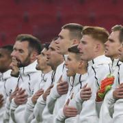 Elszánt, lelkes csapat a magyar  Fotó: MLSZ