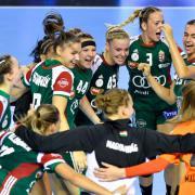 A magyar lányok győzelmi öröme