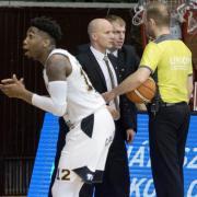 Manigat egyszer-kétszer kiakadt a téves játékvezetői döntés miatt  Fotó: DEAC Kosárlabda