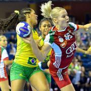 Egy korábbi meccs akciója a magyar lányokkal