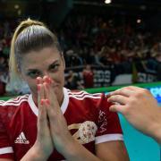 Kovács Anna és Bordás Réka  Fotó: dvsckezilabda.hu