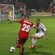 Németh Milán, a DVTK (b) és Aleksandar Jovanovic, a DVSC-TEVA játékosa