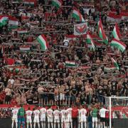 A szurkolók és a győztes magyar csapat  Fotó: M4 Sport