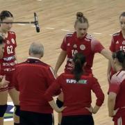 Köstner Vilmosnak tetszett a csapat hozzáállása  Fotó: dvsckezilabda.hu