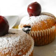 Muffin - meggykoronával