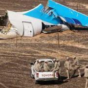 A lezuhant orosz gép farokrésze