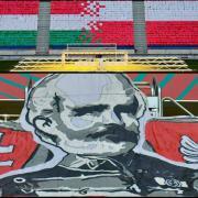 Bem tábornok arcképe a stadionban