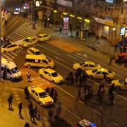 Taxisok tüntetése Budapesten, a napokban