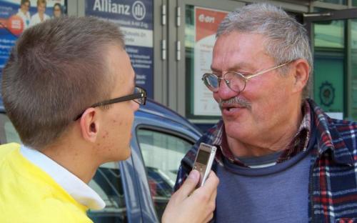 Toók László interjúkat készített az érdeklődőkkel