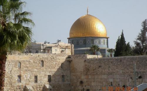 A jeruzsálemi Aranymecset kupolája, ahova csak muszlimok léphetnek be