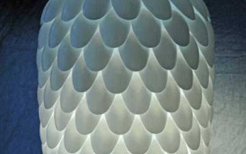 Lámpabúra műanyag kanalak fejéből
