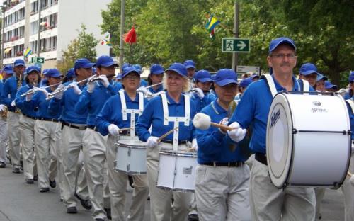 A nemzetközi csoport dobosai