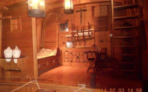 Kolumbusz hajójának kapitányi kabinja a Columbus-Házban