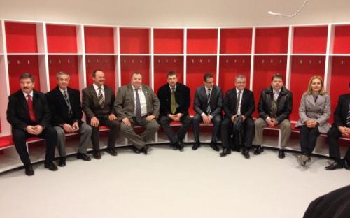 A Loki-öltözőben a Fidesz-frakció tagjai