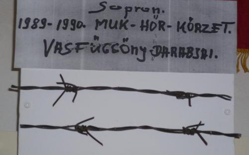 Sopron - a vasfüggöny egy darabja