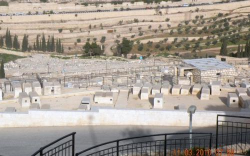 A temető az Olajfák hegyénél