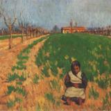 Maticska Jenő: Kislány a mezőn
