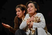 Ráckevei Anna a Lear című előadásban  Fotó: Máthé András