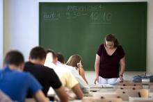 Vizsgázó diákok